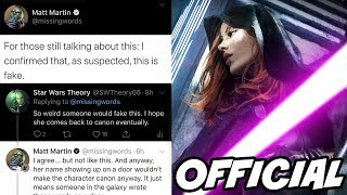 Lucasfilm Officially Confirms Mara Jade is NOT Canon! It was Fake!