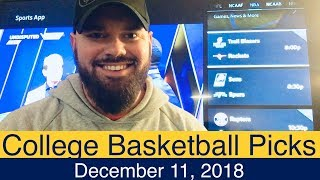 NCAAB Picks (12-11-18) | College Basketball CBB Expert Predictions | NCAAM | Men's NCAA