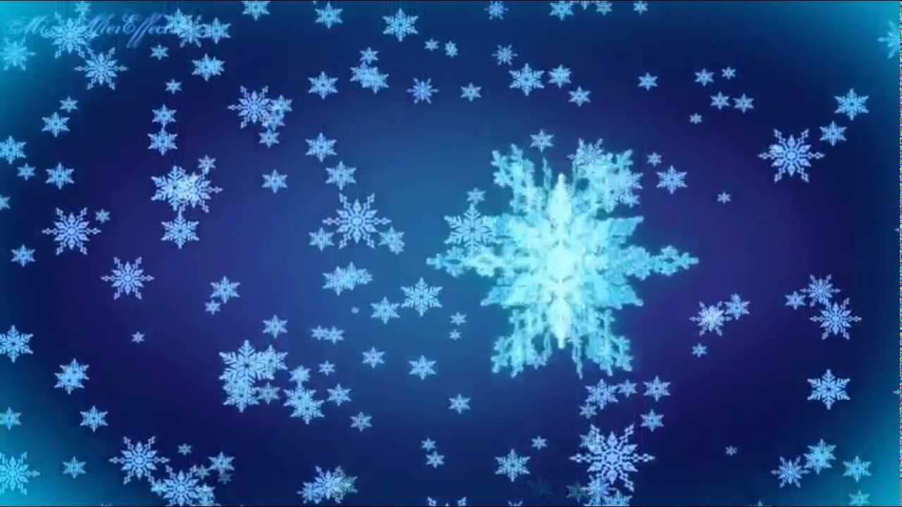 3D Snowflakes Falling Background Motion Graphic Free Download