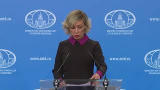 Брифинг М.В.Захаровой, Москва, 4 апреля 2019 года