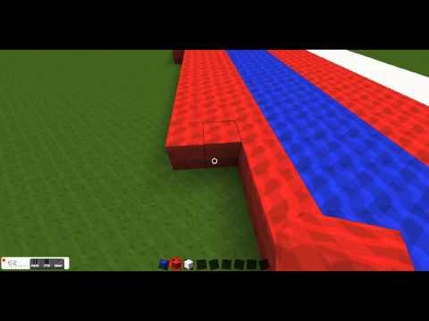 Minecraft Timelapse: Hawaiian flag