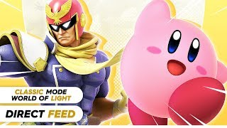 SMASH ULTIMATE CLASSIC MODE / WORLD OF LIGHT (DIRECT FEED)