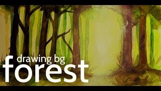 Drawing Backgrounds: Forest