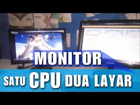 Gampang!! Cara setting dua layar monitor windows 7.