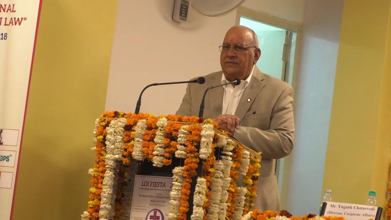 CPJCHS&SOL- Prof. Dr. Ranbir Singh,VC,NLU Delhi addressal as Chief ...