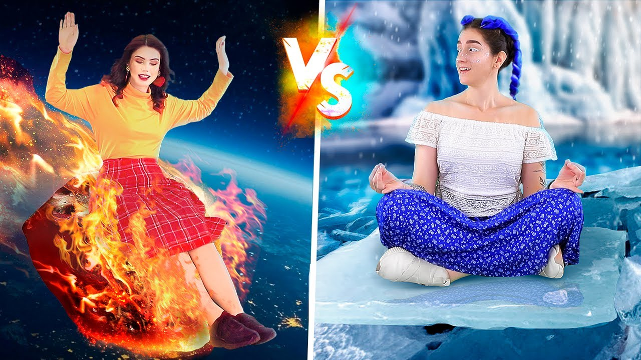 Hot vs Cold Challenge! Super Babysitters! - download from YouTube for free