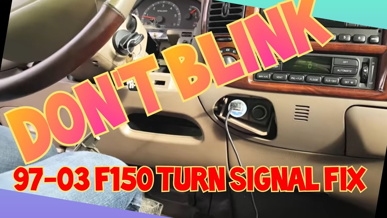 medium resolution of dont blink 97 03 f150 flasher relay multi function switch