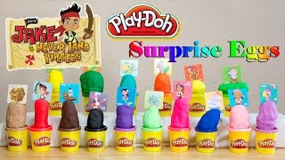 Play Doh Surprise Eggs Jake and the Neverland Pirates Sofia the First Doc McStuffins