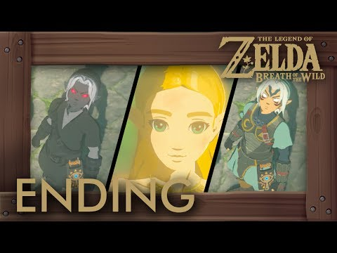 Zelda Breath of the Wild - Ending w/ All Link Generations