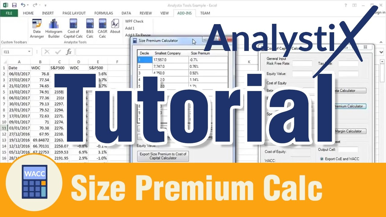 Size Premium Calculator Tutorial - Analystix