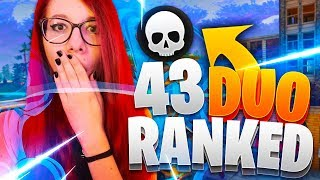 43 KILLS IN RANKED DUO SPLIT!! RECORD PERSONALE - Fortnite