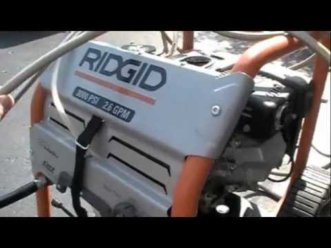 Ridgid Pressure Washer Youtube