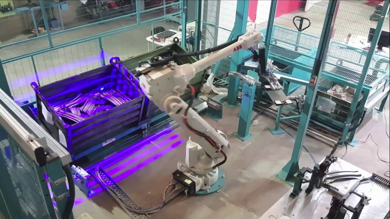 Robotic Bin Picking On Stamped Parts With ABB Robot In Production At GEDIA
