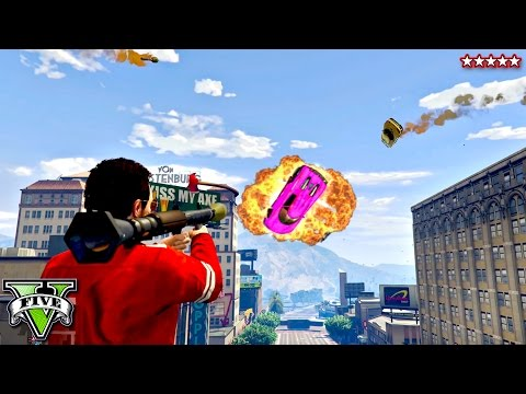 GTA 5 Flying Zentornos!! EPIC RPGs Vs Stunters Showdown (GTA 5 Funny Moments)