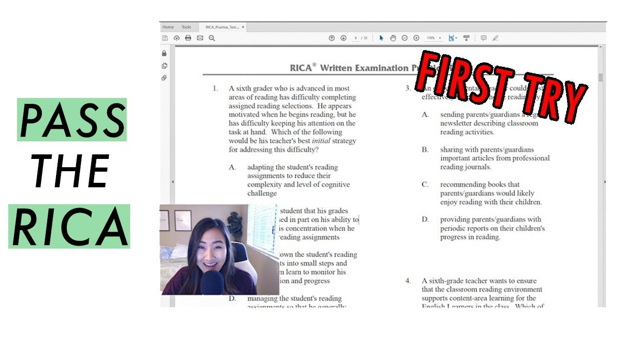 How To Pass The Rica California Teaching Credential Youtube