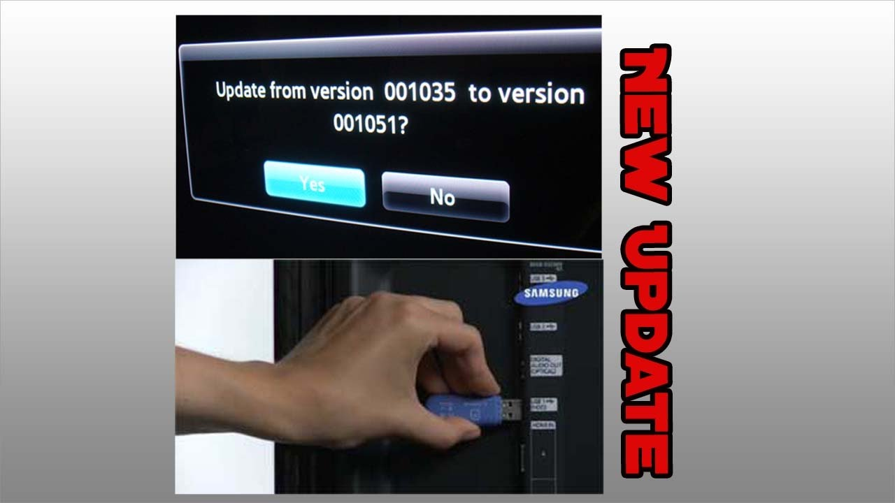 how to update firmware on samsung 4k tv