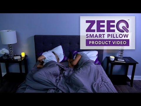 ZEEQ Smart Pillow, Stop Snoring, Sleep Tracker, Sleep Music, Alarm Clock and ZEEQ App