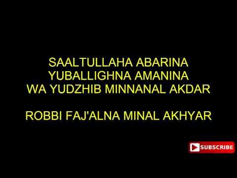 ROBBI FAJ'ALNA MINAL AKHYAR - GUBAH AL HADDAD (LYRIC)