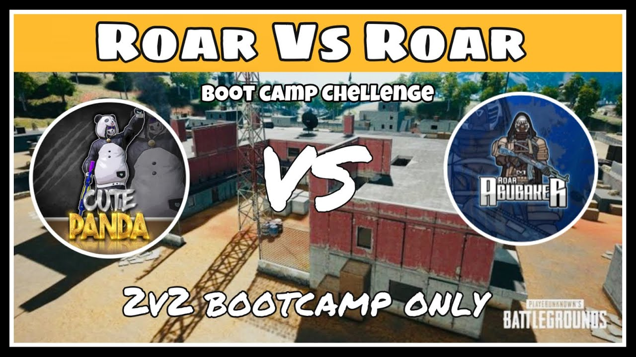 10 years Cute Panda Vs RoarAbubakar Gaming   Bootcamp chellenge   2v2   1v2 situation in end🐼