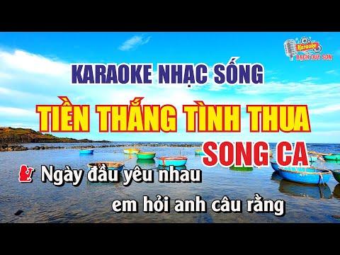 Karaoke Tiền Thắng Tình Thua Song Ca Nhạc Sống | Bạch Duy Sơn