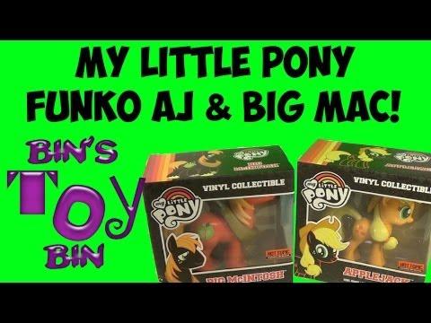 My Little Pony Applejack & Big McIntosh Funko Vinyl Figures Review! By Bin's Toy Bin