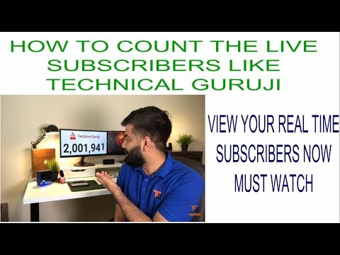 how to put youtube subscriber count on video