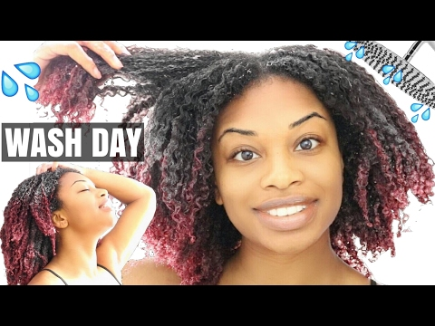 WASH DAY ROUTINE FROM START TO FINISH NATURAL HAIR | JOURNEYTOWAISTLENGTH