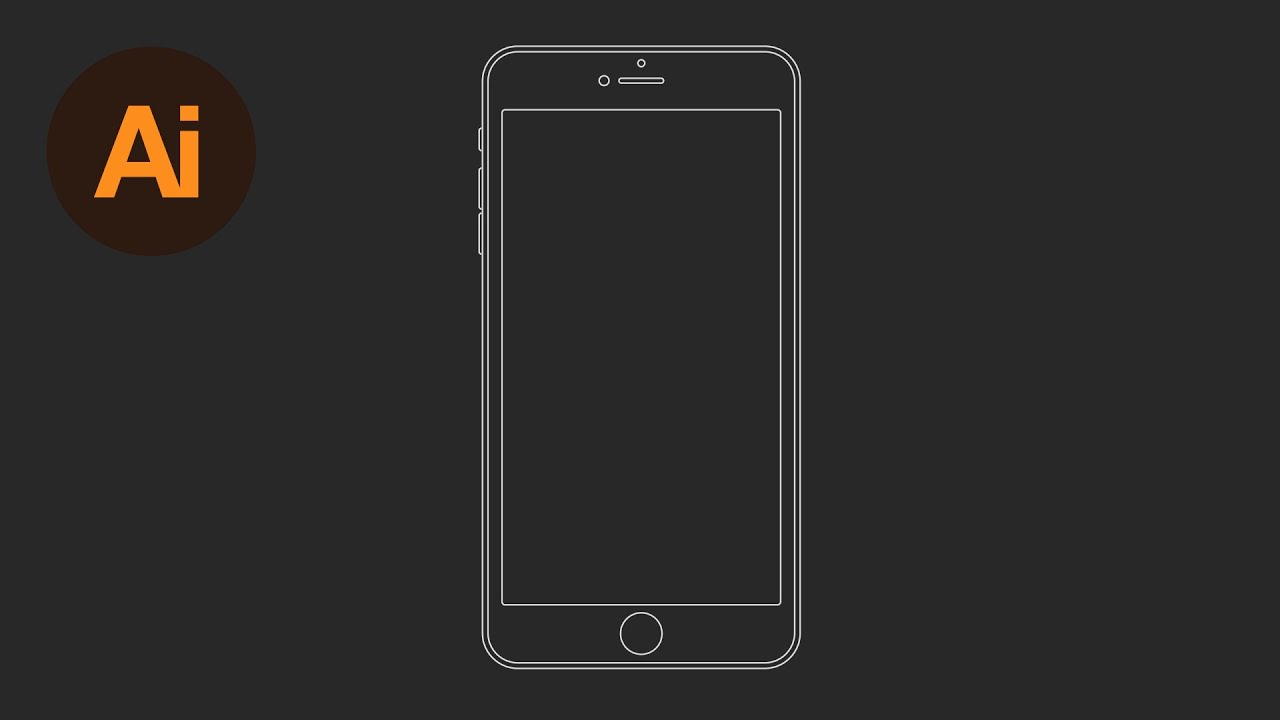 Learn how to draw an iphone 6 wireframe in adobe illustrator learn how to draw an iphone 6 wireframe in adobe illustrator dansky youtube maxwellsz