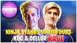 Ninja Stands Up For Accused *HACKER* DubsFN | xQc & Dellor *RAGE* | Fortnite Highlights