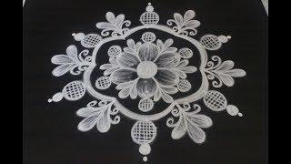 5 dots Friday kolam designs for Sravanamasam    Varalakshmi vratham muggulu    easy rangoli designs