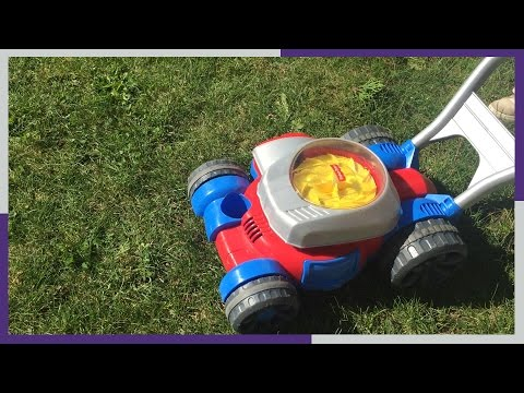 TOY BUBBLE LAWN MOWER Fisher Price | Yard Work FUN Play!