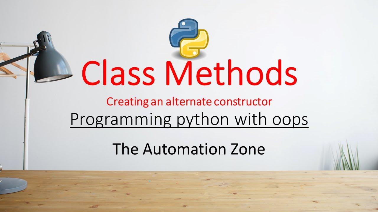 Class methods - Python OOPs 06