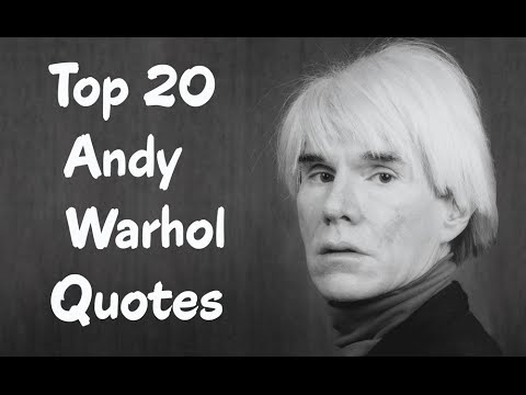 Top 20 Andy Warhol Quotes || The American artist - YouTube