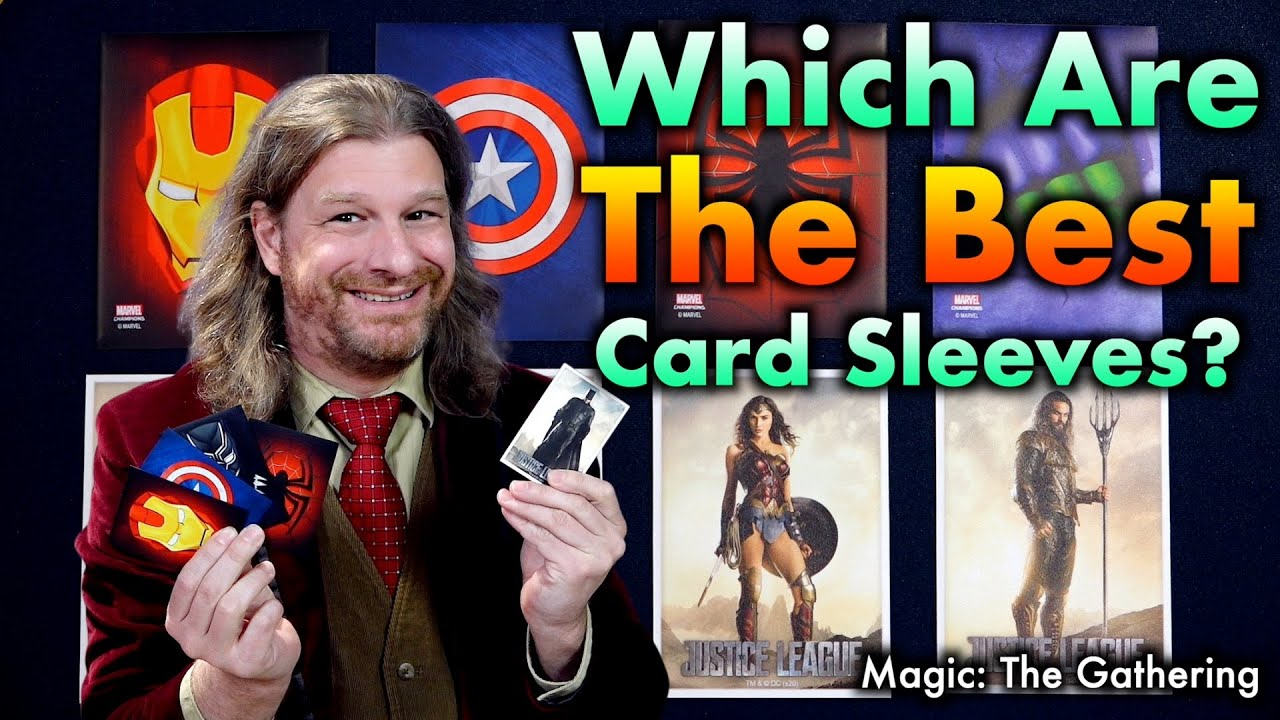 """The Best Magic The Gathering Sleeves 32: Game Genic """"Marvel"""" sleeves vs Arcane Tinmen """"DC"""" sleeves"""