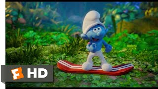 Smurfs: The Lost Village (2017) - Branch-Boarding Scene (2/10) | Movieclips