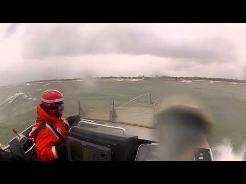 Coast Guard Takes ABC 57 Camera Out On Lake Michigan During Severe Weather Training