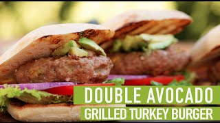 Double Avocado Grilled Turkey Burger