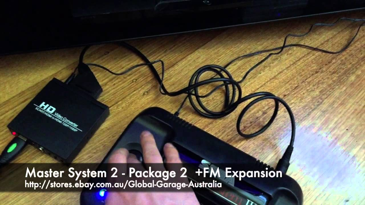 Sega Master System 2 Mods Demonstration Rgb Scart 60hz