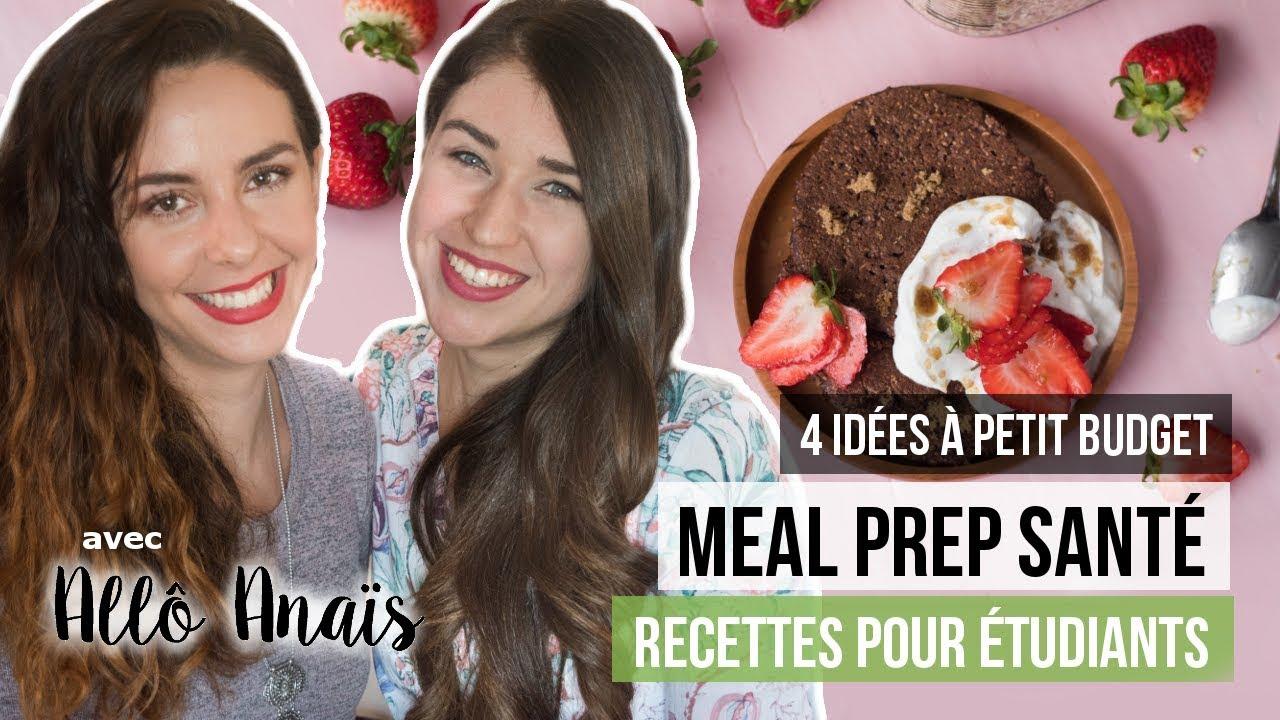 Idee Recette Etudiant.4 Recettes Mealprep Pour Etudiants A Moins De 1 Portion Ft Allo Anais Idees Petit Budget