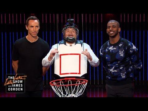 Human Basketball Hoop w Steve Nash & Chris Paul