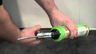 Applying Green Glue Noiseproofing Sealant
