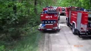 16.05.2018 | Alarmowo do pożaru lasu w Jednaczewie | 369[B]22 OSP Konarzyce