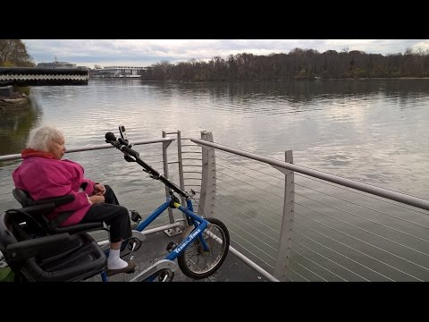 Argentilhia and Dennis take a two hour bike trip to Washington Harbor