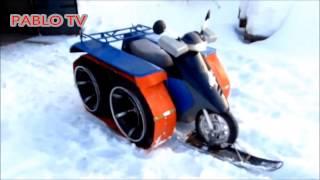 Scooter Allrad Umbau - Roller Winterfertig machen - Scooter 2x2 - Roller winterfest machen