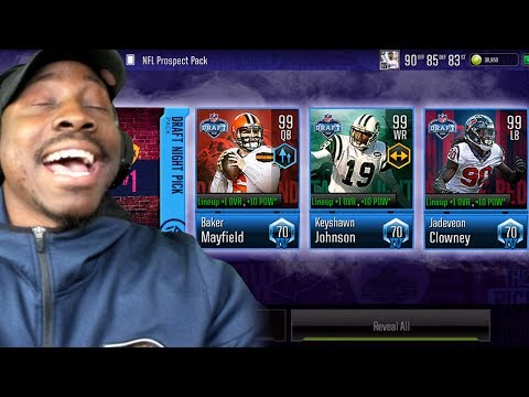 2019 NFL DRAFT PACK OPENING! Madden Mobile 19 Overdrive Gameplay Ep. 24