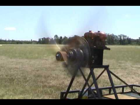 1909 Gnome Omega Rotary Aircraft Engine on