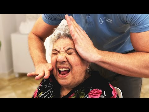 *GRANDMA FIT* Gets *CERVICAL TREATMENT* For *VERTIGO* | Osteopath / Chiropractic Adjustment Session