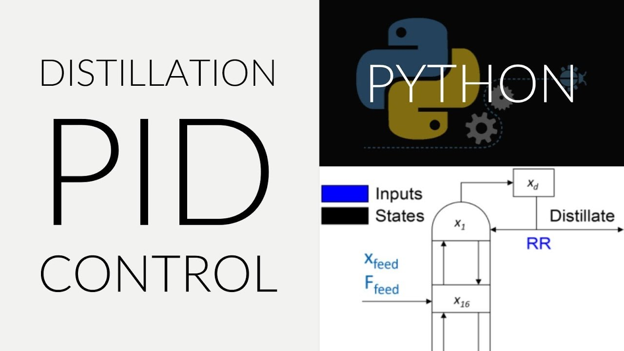 Distillation PID Control in Python - YouTube
