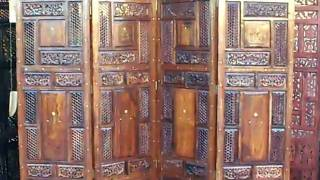 Original Mogul Style Room Divider Wood Screen.mov
