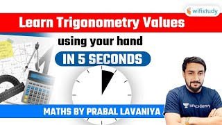 Learn Trigonometry Values using your hand and solve the question in 5 seconds by Prabal Lavaniya